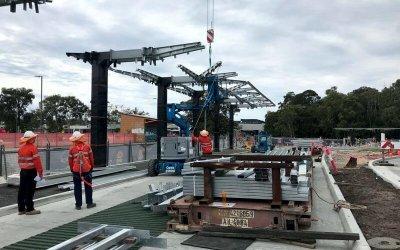Byron Bay Bus Interchange Canopy Steelwork